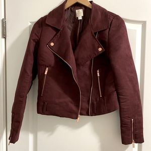 Burgundy Lauren Conrad Suede Jacket